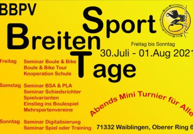 Breitensporttage  30.07.-01.08.2021