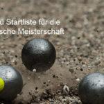 DM-Startliste Triplette Frauen am 21./22.09.2019 Schüttorf (NiSa)