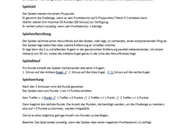 """Die """"Mach 5-Challenge"""" – Solo-Schießtrainingsidee von K30 (TC Ludwigsburg)"""